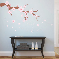 cik102 Full Color Wall decal tree branch cherry cherry blossom living room children's bedroom
