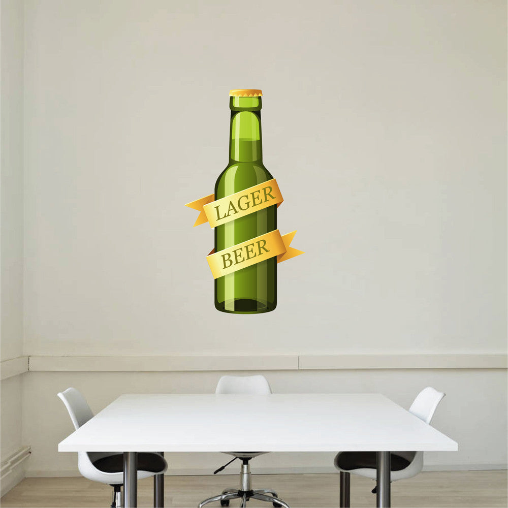 cik1060 Full Color Wall decal drink bottle snack restaurant