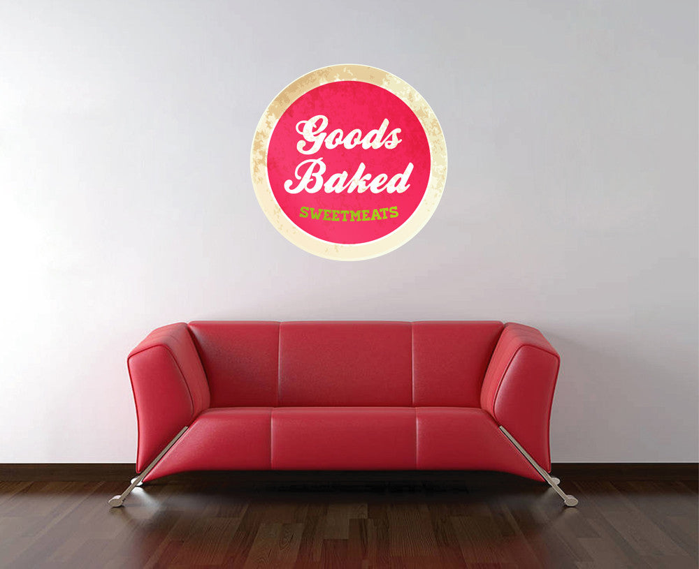 cik1070 Full Color Wall decal sweet food baked bakery cafe window Showcases