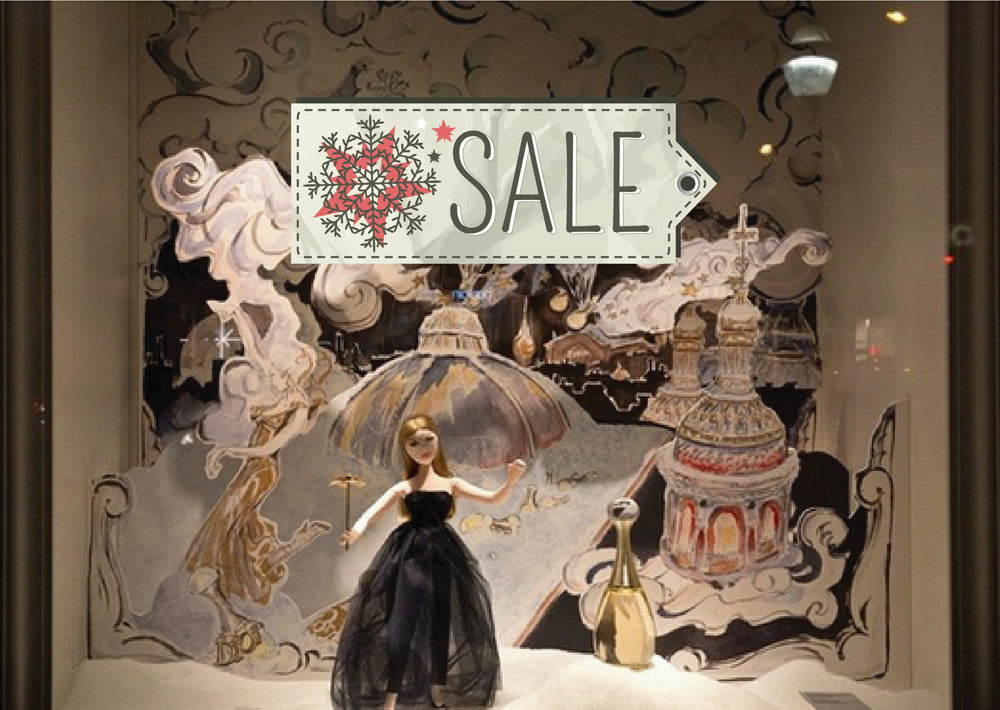 cik1086 Full Color Wall decal Christmas sale showcase store window