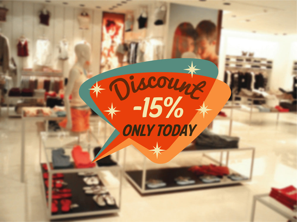 cik1092 Full Color Wall decal discount sale today only shop window Showcases