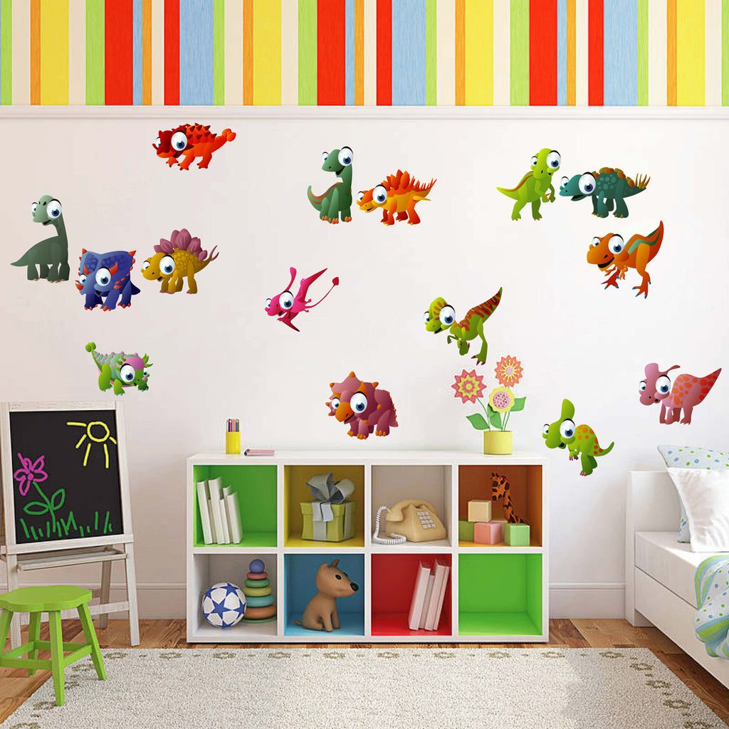 cik10 Full Color Wall decal small dinosaur children's baby animal children's room