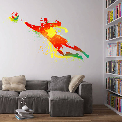 cik110 Full Color Wall decal soccer football ball sport spray paint room Bedroom sports hall