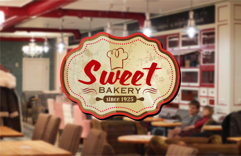 cik1119 Full Color Wall decal Bakery pastry shop sweets snack restaurant window