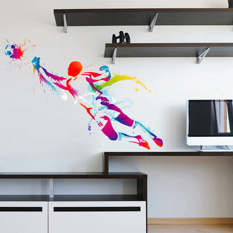 cik111 Full Color Wall decal soccer football ball sport spray paint room Bedroom sports hall