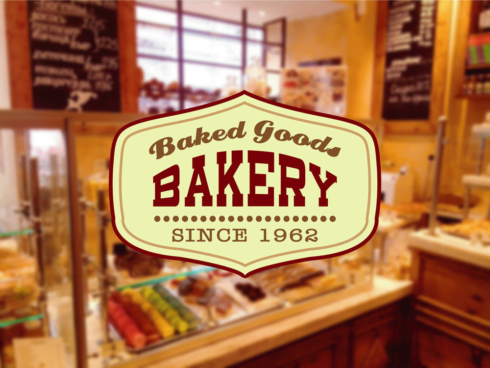 cik1127 Full Color Wall decal letter inscription bakery pastry