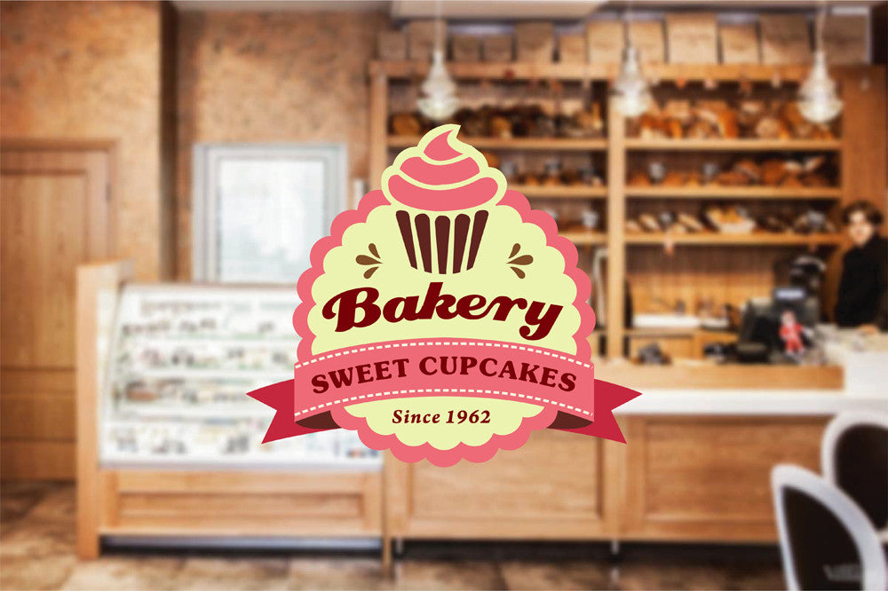 cik1128 Full Color Wall decal baked sweet cake sweet snack bakery cafe