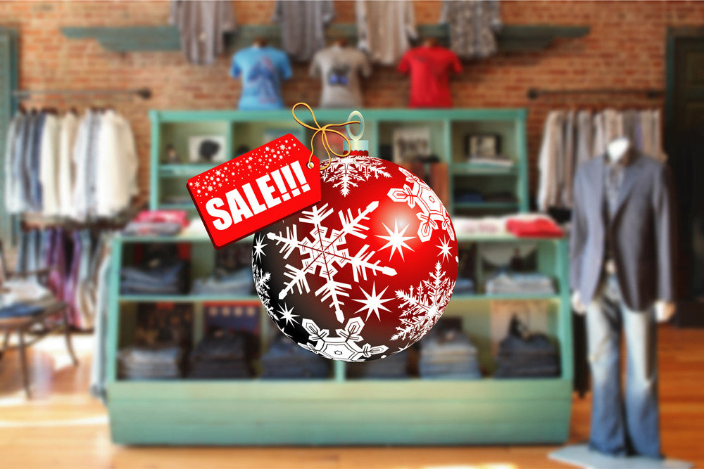 cik1163 Full Color Wall decal Christmas ball Holiday Sale storefront window shop