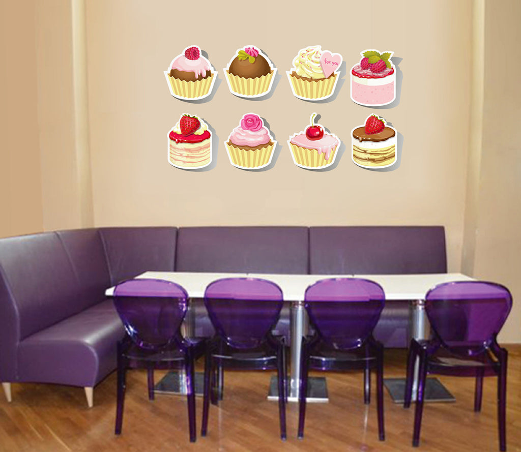 cik126 Full Color Wall decal Sweet Cake Cafe