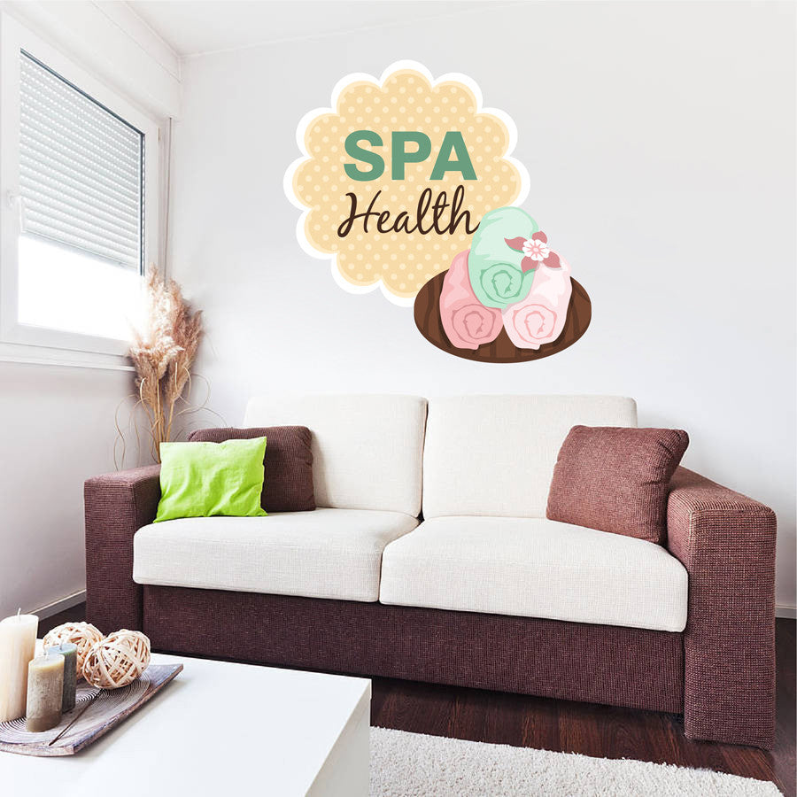 cik1354 Full Color Wall decal Health paraphernalia towels beauty salon spa