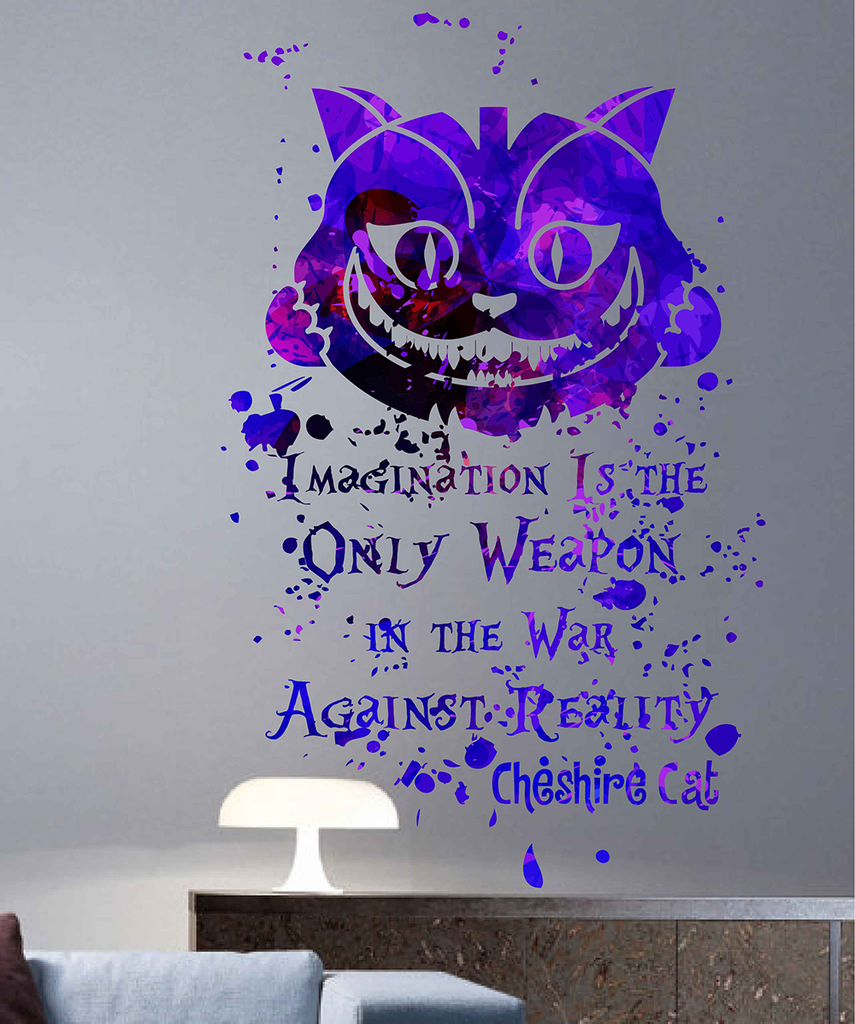 Cik1744 Full Color Wall Decal Poster Space Watercolor Paint Splashes A Stickersforlife