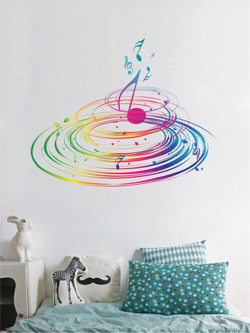 cik375 Full Color Wall decal tornadoes sheet music song living room bedroom