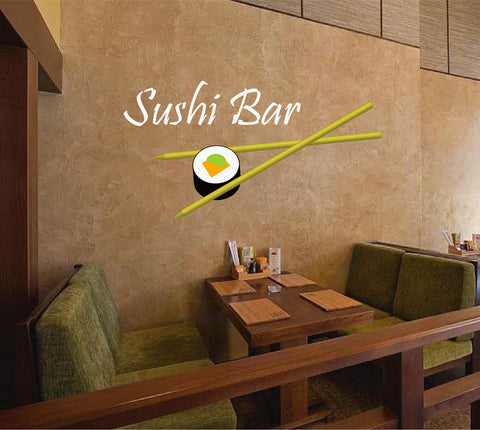 cik888 Full Color Wall decal Japanese food is sushi bar Japanese restaurant