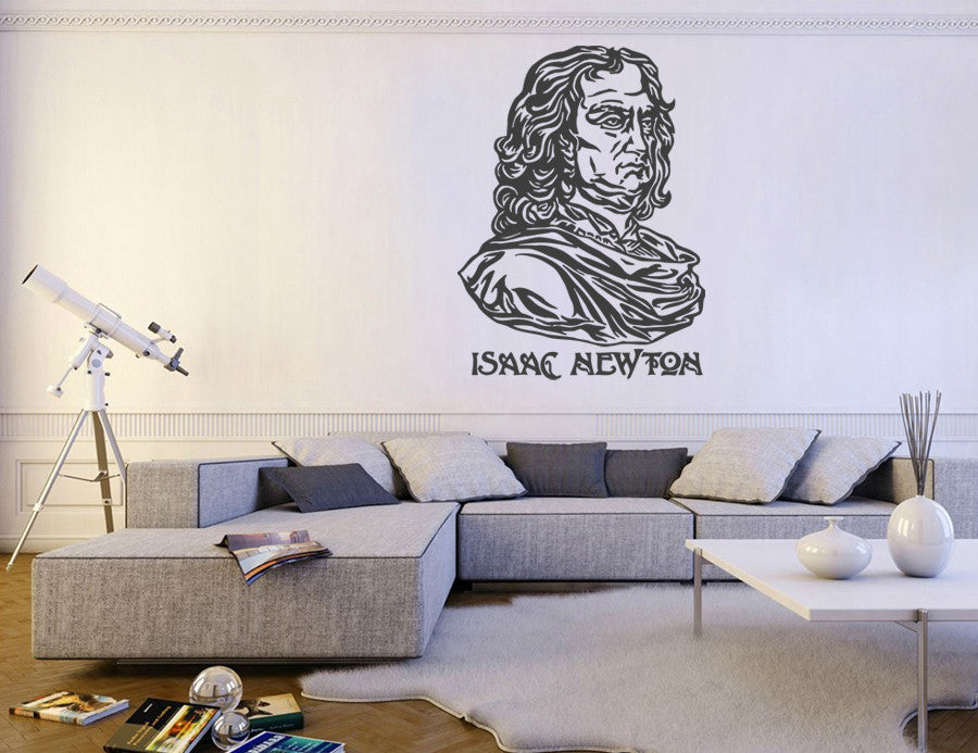 ik1013 Wall Decal Sticker Isaac Newton British physicist bedroom