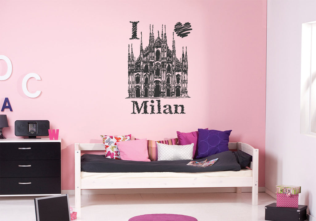 ik1046 Wall Decal Sticker Milan Cathedral Italy bedroom