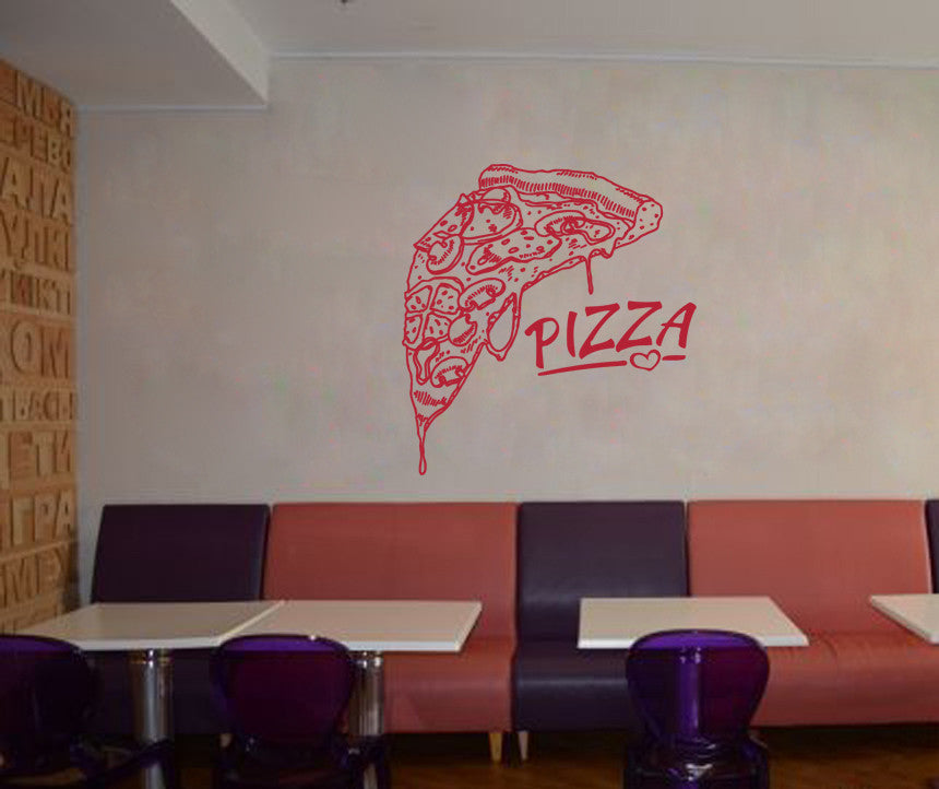ik1053 Wall Decal Sticker Pizza Italian Restaurant Pizzeria