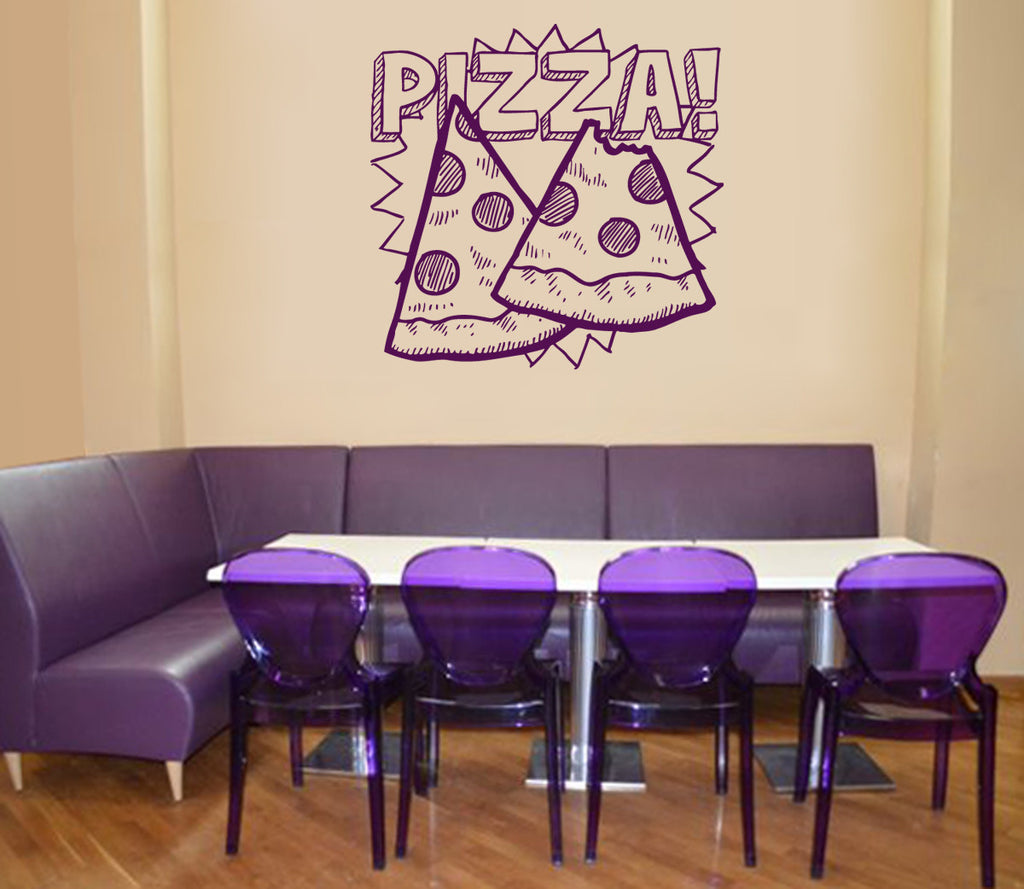 ik1055 Wall Decal Sticker Pizza Italian Restaurant Pizzeria
