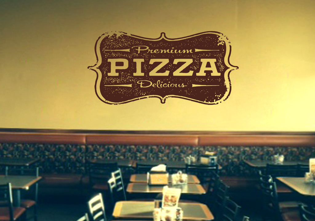 ik1072 Wall Decal Sticker inscription Pizza Italian restaurant pizzeria