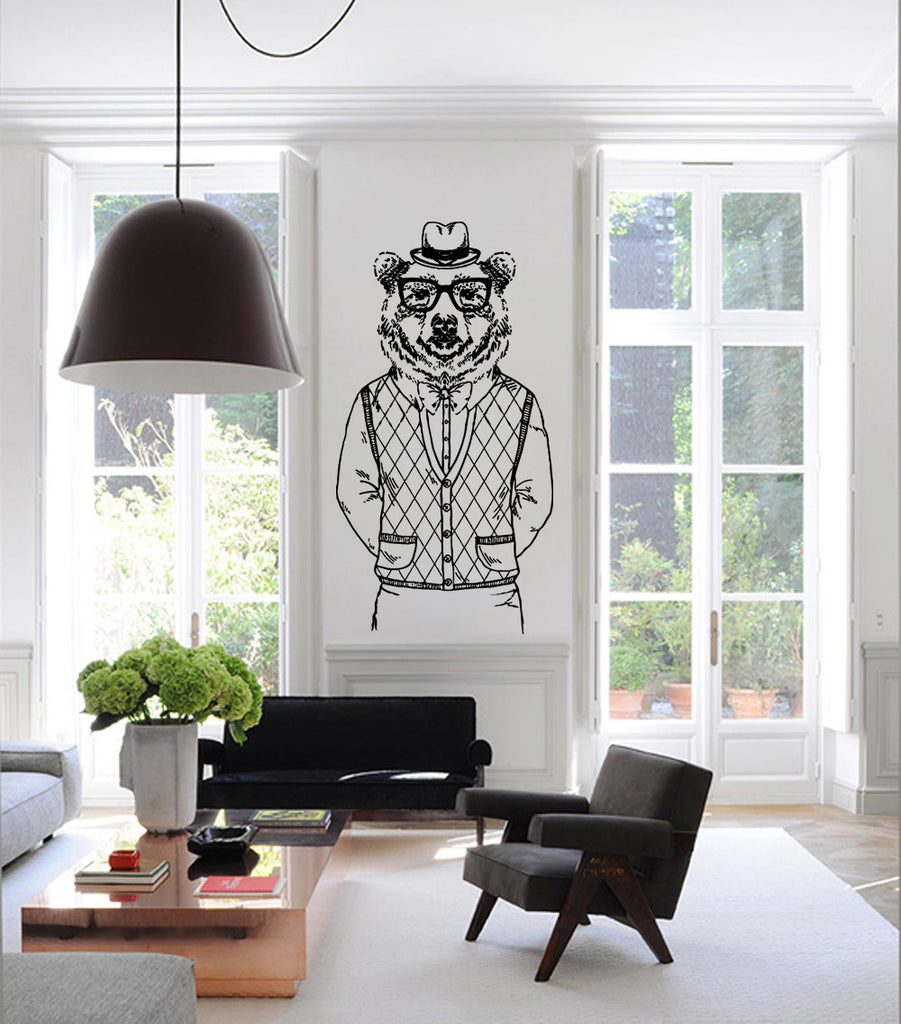 ik1086 Wall Decal Sticker Bear animal bedroom