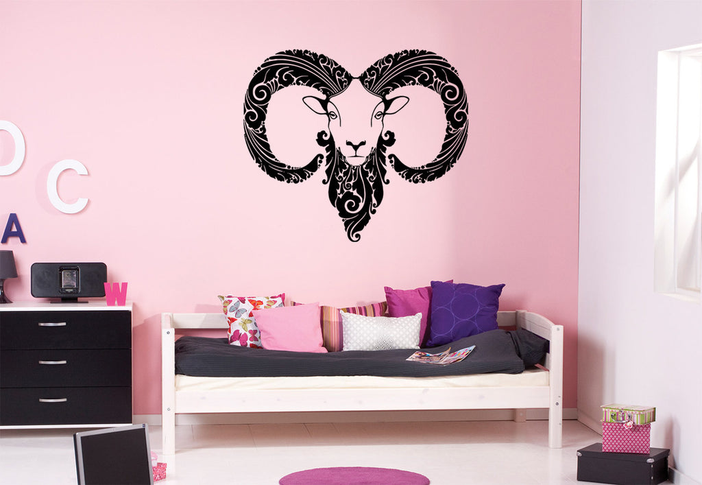 ik1089 Wall Decal Sticker Aries zodiac sign bedroom
