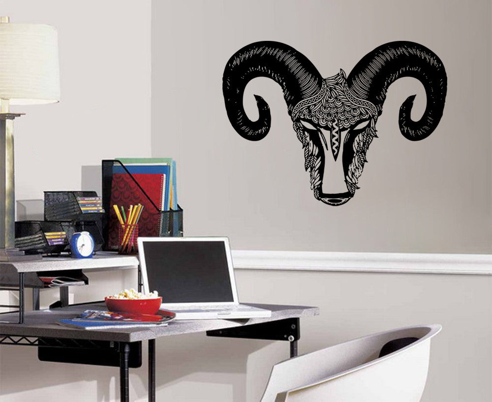 ik1090 Wall Decal Sticker Aries zodiac sign bedroom