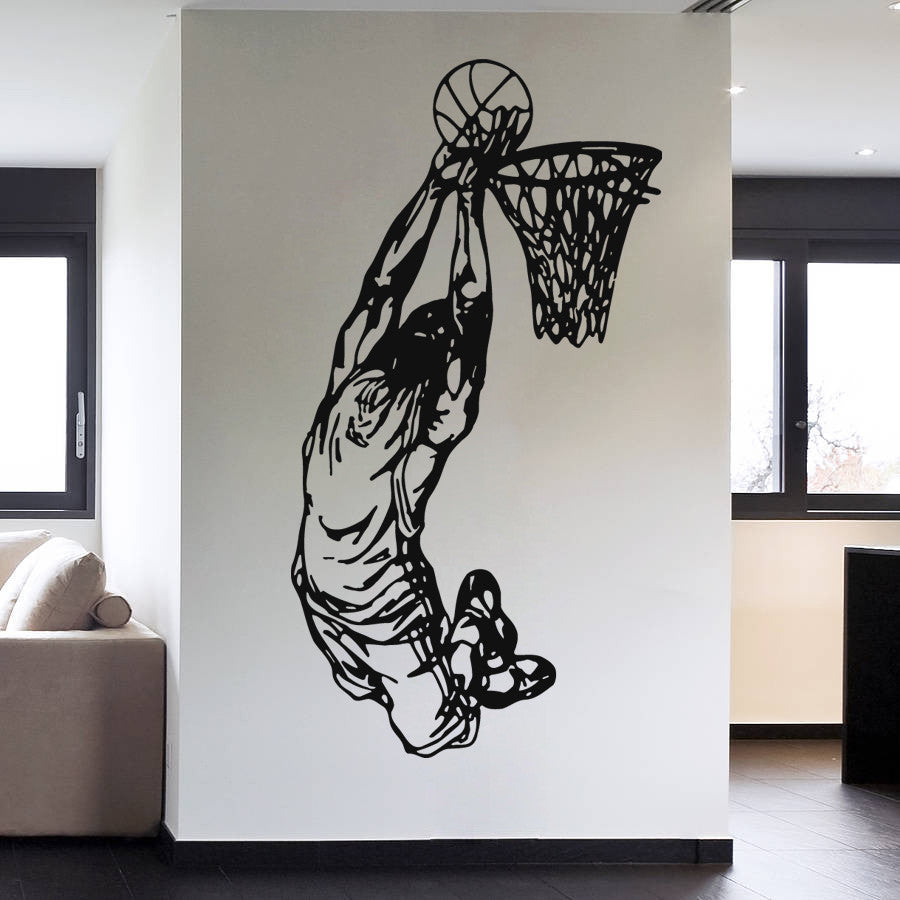 ik1092 Wall Decal Sticker basketball sports team game ball bedroom