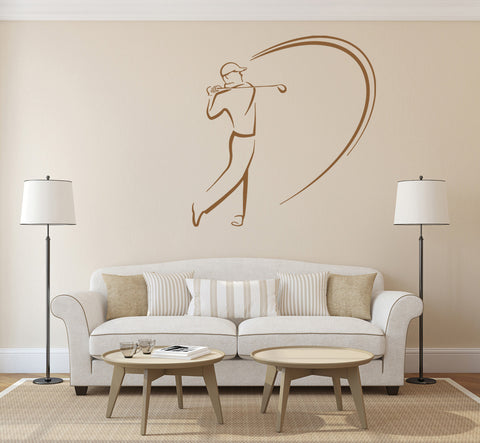 ik1100 Wall Decal Sticker Golf Sports golvist putter golf club room bedroom