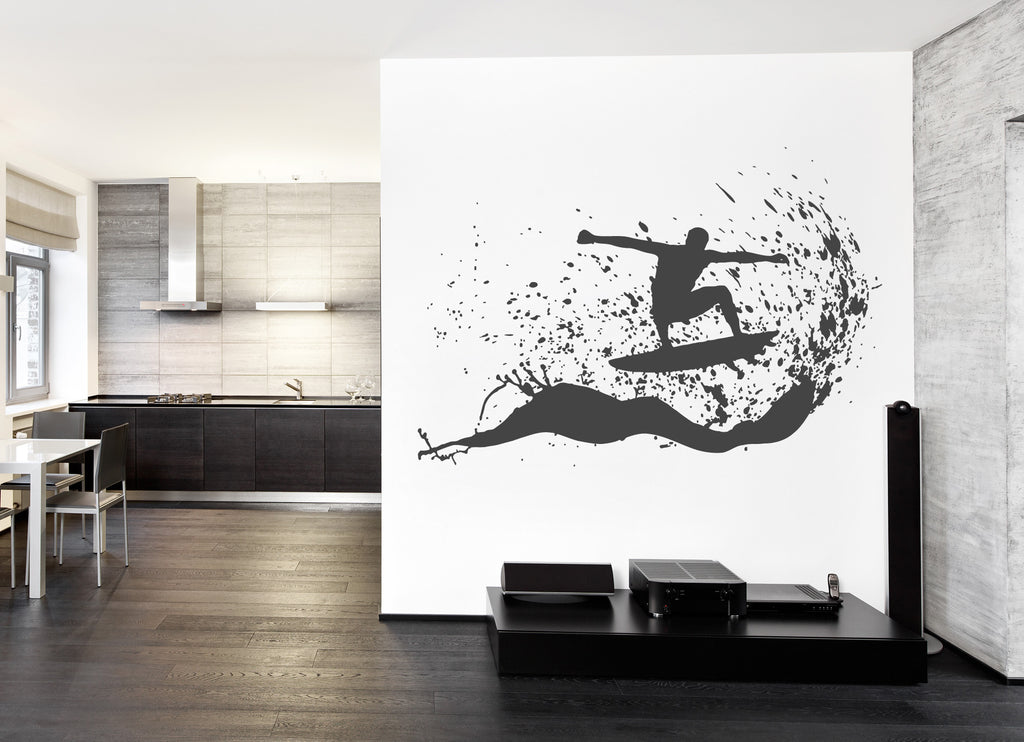 ik1114 Wall Decal Sticker surf board wave ocean Hawaii bedroom