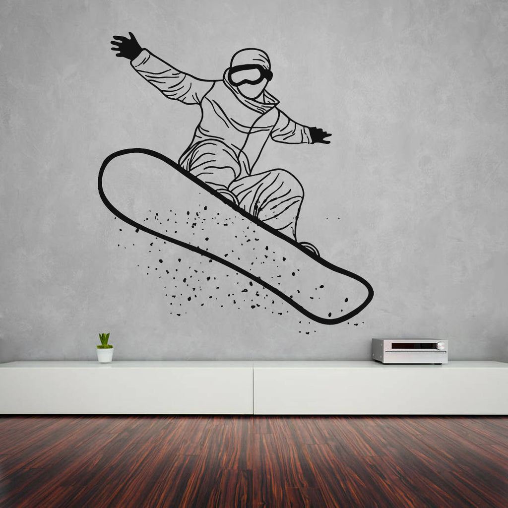 ik1129 Wall Decal Sticker snowboarding snowboarder board sports bedroom room