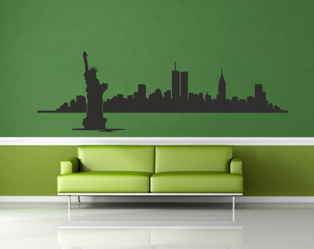 ik1157 Wall Decal Sticker New York City Statue of Liberty American room bedroom