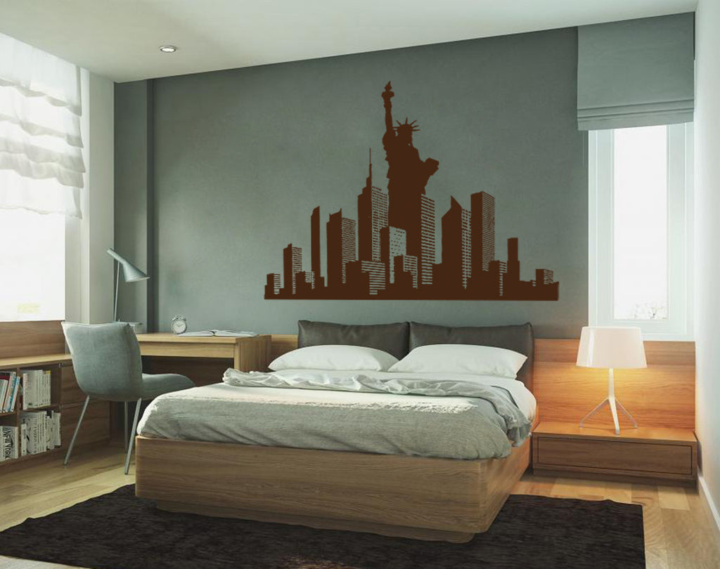ik1158 Wall Decal Sticker New York City Statue of Liberty American room bedroom