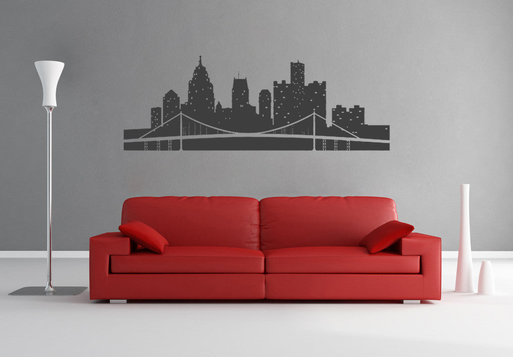 ik1173 Wall Decal Sticker US city of Detroit bedroom children