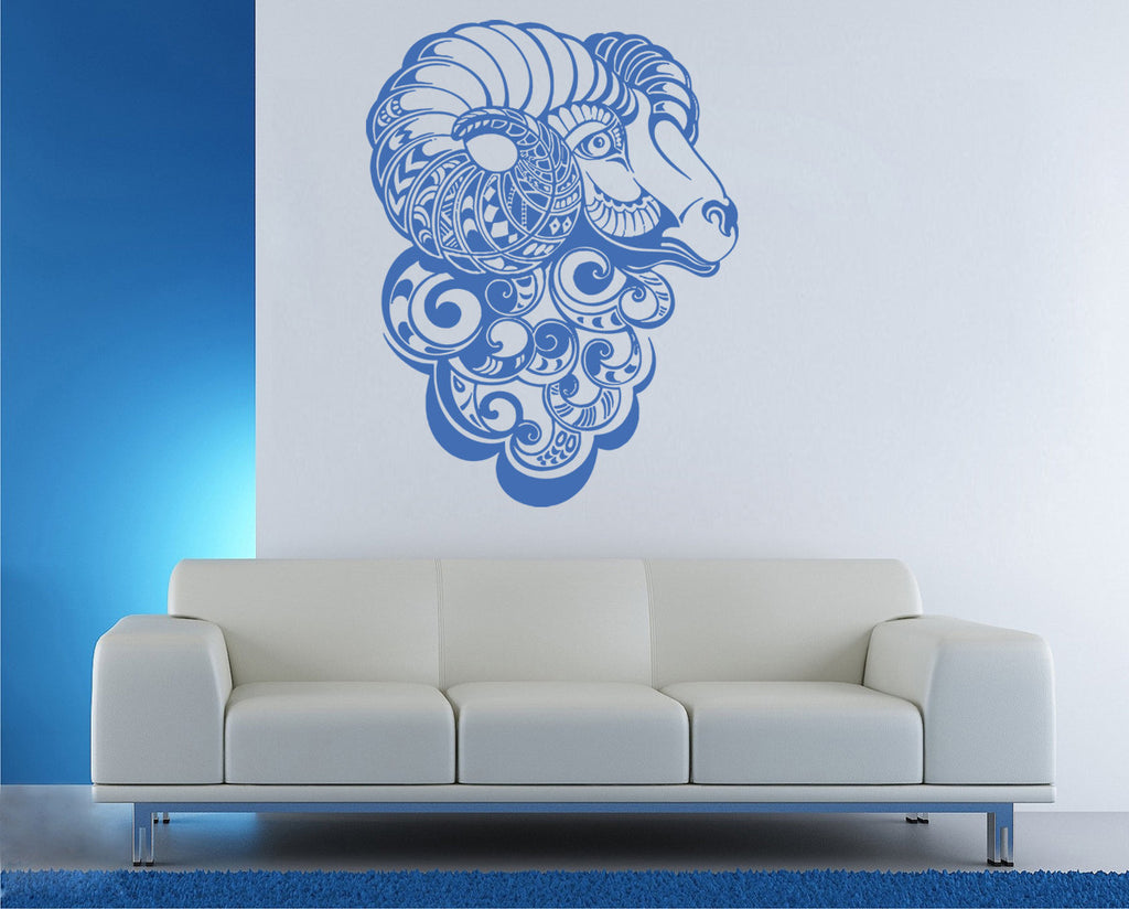 ik1189 Wall Decal Sticker Aries zodiac sign ram bedroom