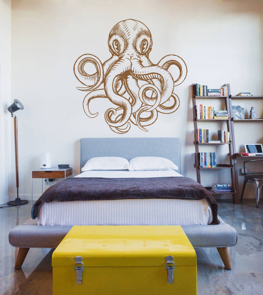 ik1193 Wall Decal Sticker octopus marine animals bathroom