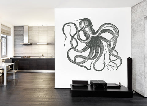 ik1204 Wall Decal Sticker octopus marine animals bathroom