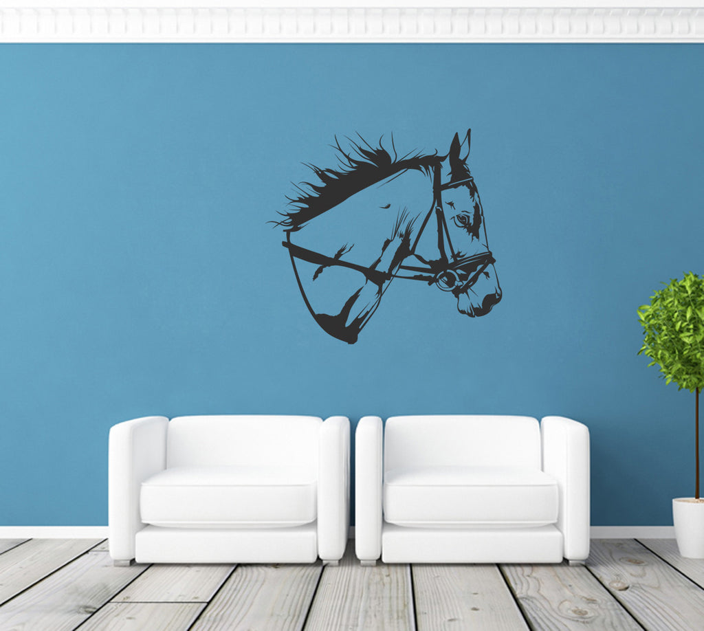 ik1235 Wall Decal Sticker horse head bedroom
