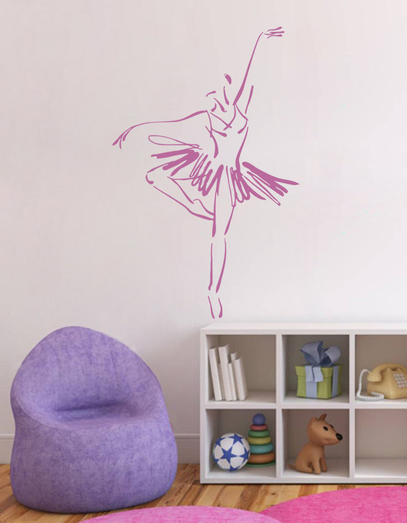 ik1284 Wall Decal Sticker Ballet dancer dancing pointe bedroom children