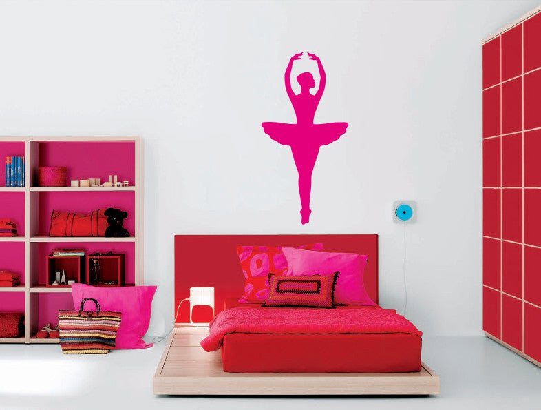 ik1286 Wall Decal Sticker Ballet dancer dancing pointe bedroom children