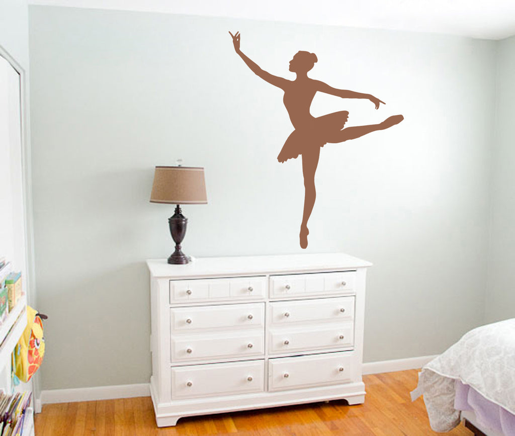 ik1295 Wall Decal Sticker Ballet dancer dancing pointe bedroom children