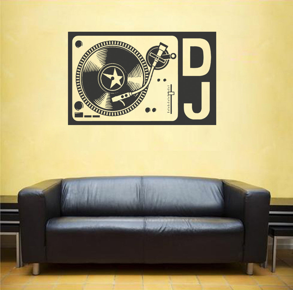 ik1310 Wall Decal Sticker DJ electronic music techno bedroom recording studio