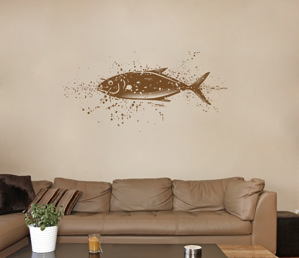 ik1325 Wall Decal Sticker Sea fish bathroom living room bedroom