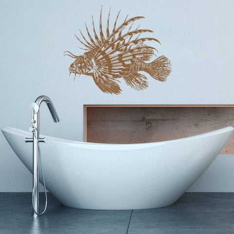 ik1338 Wall Decal Sticker lion fish sea animals living room bedroom bathroom