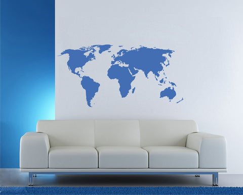 ik1342 Wall Decal Sticker world map Bedroom Living Room