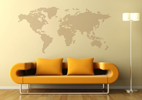 ik1345 Wall Decal Sticker world map Bedroom Living Room