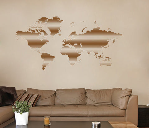 ik1346 Wall Decal Sticker world map Bedroom Living Room