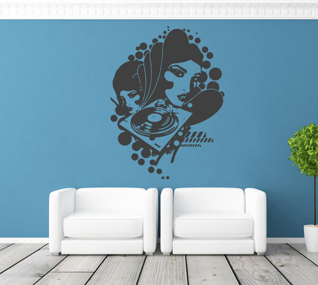 ik1357 Wall Decal Sticker DJ mixer electronic music room living room bedroom