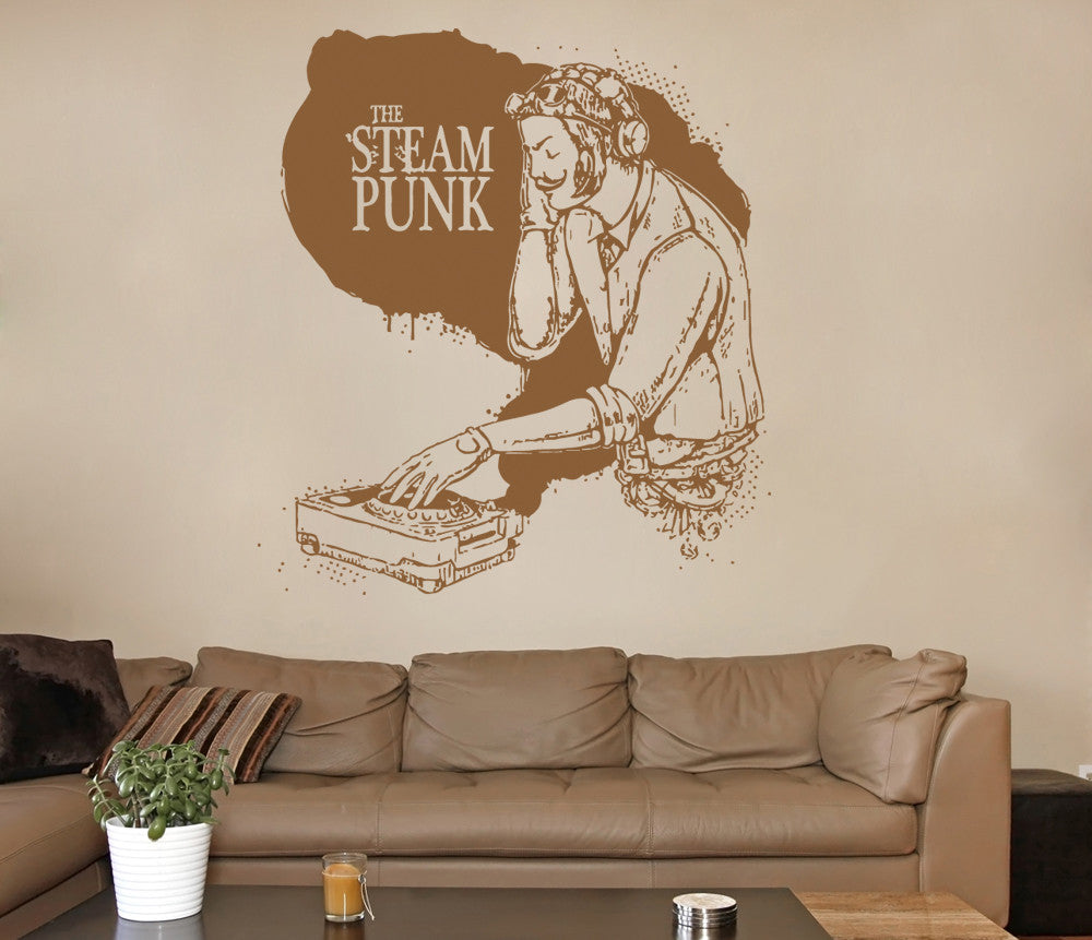 ik1359 Wall Decal Sticker steam punk DJ mixer electronic music room bedroom