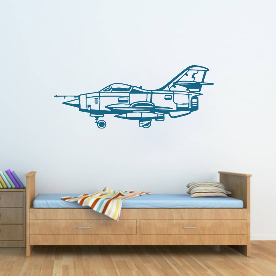 ik1362 Wall Decal Sticker Fighter military aircraft the Air Force US children
