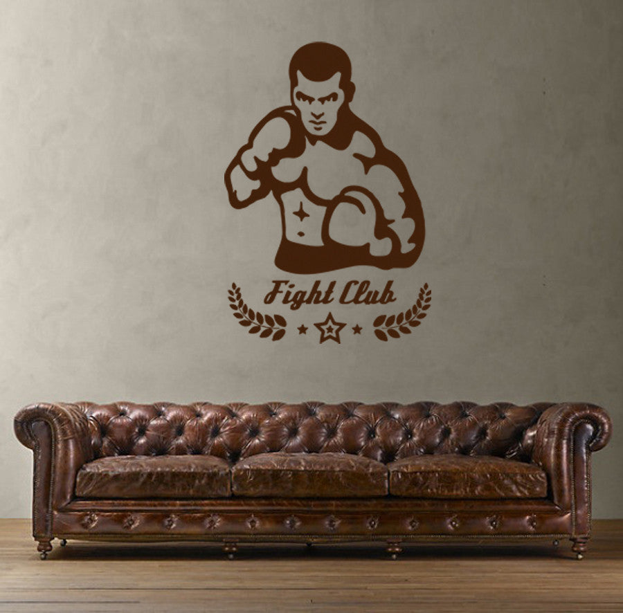 ik1367 Wall Decal Sticker kick boxing ring Gloves Tournament living room gym
