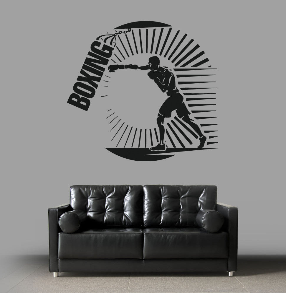 ik1382 Wall Decal Sticker kick boxing ring Gloves Tournament living room gym
